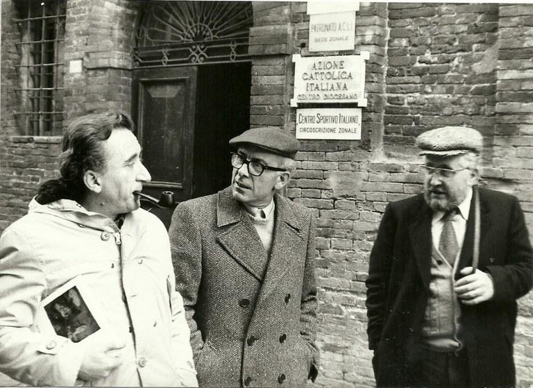 Andrea Emiliani, Renato Bruscaglia, Urbino, [fine anni '70]