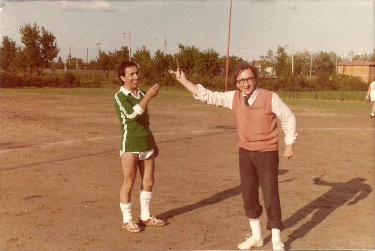 Andrea Emiliani nel ruolo di arbitro [anni '70]