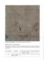 Carta catastale di Capo Bove