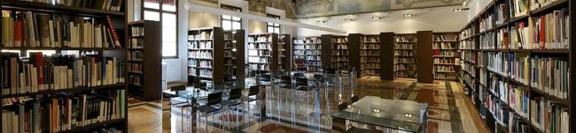 Sala di consultazione della biblioteca Giuseppe Guglielmi (Archivio IBC, Andrea Scardova)