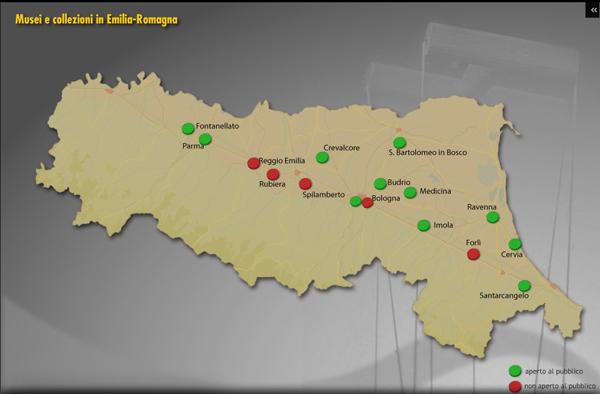 Mappa dei musei de burattini