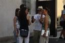 Maximus il piccolo si riposa: ora la parola a Maria Pia e Remo che intervistano i visitatori