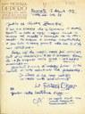 Lettera a Zavattini del pittore Fortunato Depero