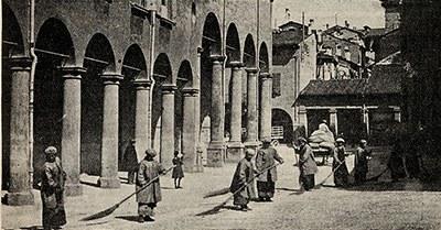 Spazzine in via Riva Reno a Bologna, 1916, Museo Civico del Risorgimento di Bologna