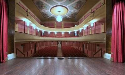 Concordia sulla Secchia (MO), Teatro del Popolo, la sala teatrale vista dal palcoscenico