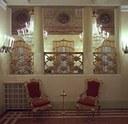 Ferrara, Teatro Comunale, particolare del foyer dopo i restauri