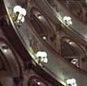 Ferrara, Teatro Comunale, scorcio dei palchi dopo i restauri