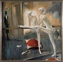 L'ultimo specchio. L'omaggio, 1988 smalto a colori metallici su tela, cm 200 x 200, Collezione privata