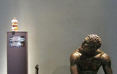 """Maximus incontra il Pugile, appena rientrato dalla mostra """"Potere e Pathos""""di Firenze"""