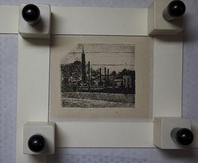 Paesaggio (I camini dell'arsenale nei dintorni di Bologna), 1921