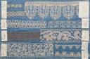 Campioni di merletti a puntine eseguiti al tombolo e con l'ago  della collezione Silvestrini, Museo Civico Medievale