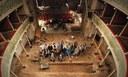 """una fase dei lavori di restauro realizzati grazie al progetto """"Cantiere aperto"""" – Archivio fotografico del Teatro Sociale di Gualtieri (Reggio Emilia)"""
