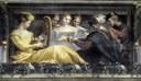 Museo di Palazzo Poggi Nicolò dell'Abate e aiuti, Concerto con cantante accompagnata da arpa, liuto e fiato,1550-52