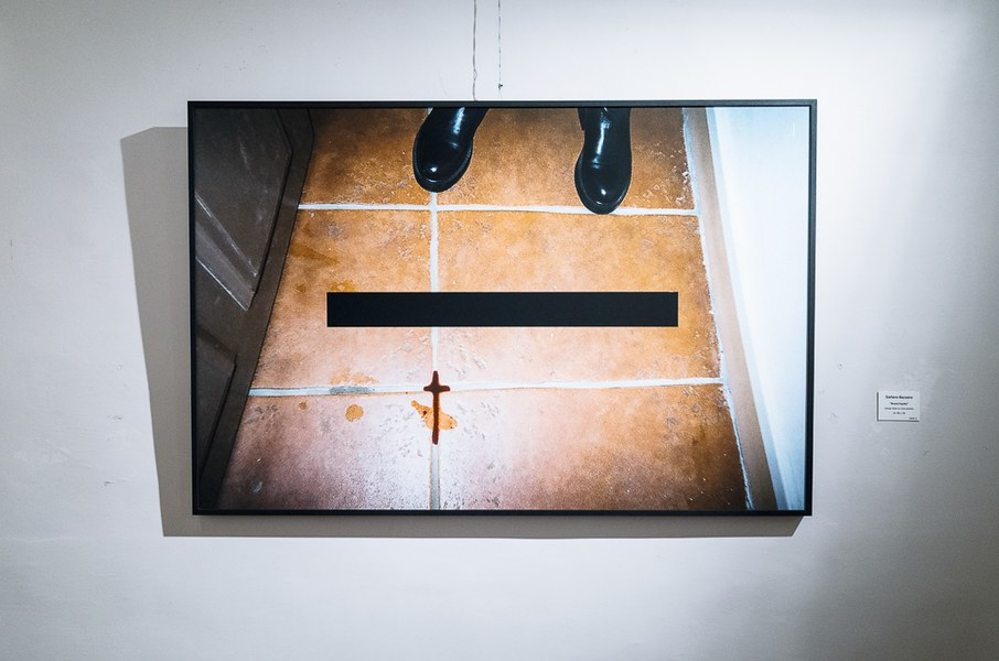 Stefano Bazzano, Brand Equity, Untitled #1, stampa su carta applicata al metallo