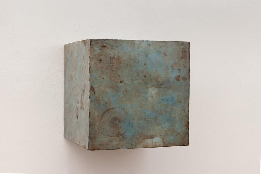Silvia Infranco, Kenotipia, 2015, pigmenti ossidi bitume e cera su tavola