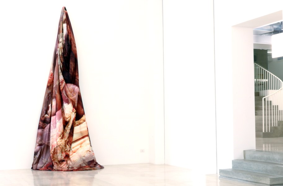 Giulia Poppi, Untitled (pelli), 2017, scultura